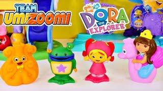 getlinkyoutube.com-Team Umizoomi Milli Bot Squiddy Dora The Explorer Nickelodeon Bath Squirters by Disney Cars Toy Club