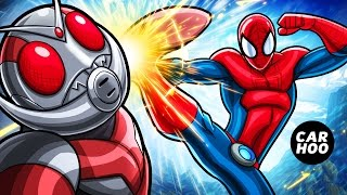 getlinkyoutube.com-SPIDER-MAN vs ANTMAN 【 MARVEL Superheroes / Masked Rider Parody 】