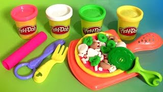 getlinkyoutube.com-Play Doh Pizza Party - Play Dough Fiesta de Las Pizzas NEW 2015 Pizzeria Playset пицца  πίτσα