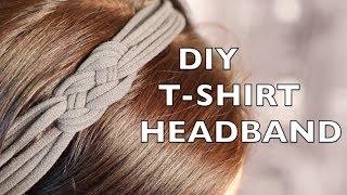 getlinkyoutube.com-How To Make A Headband - Using An Old T-Shirt