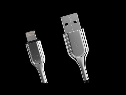 Cygnett Armoured Lightning to USB-C Cable 10cm - Black