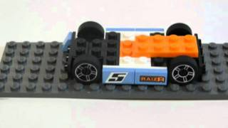 getlinkyoutube.com-Lego Racers 8193 - Bala azul (Blue bullet)