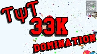 getlinkyoutube.com-Insane 33K Agario Server Domination // TYT Agar.io Gameplay