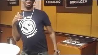 DJ Bongz vs Zakes Bantwini Dance Challenge on Ukhozi FM width=