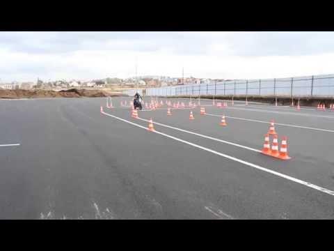 Автодром СтартАвто. Упражнение № 2 'Змейка», 'Колейная доска», 'Движение с малой скоростью»