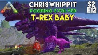 getlinkyoutube.com-T-REX BABY + WAR DRUMS | ARK Survival Evolved | S2E12 | Pooping Evolved