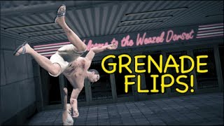 getlinkyoutube.com-GTA 5: GRENADE FLIPS! [MADNESS]