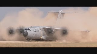 getlinkyoutube.com-Airbus Group - A400M Heavy Airlifter Completed Unpaved Runway Trials [1080p]