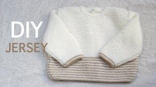 getlinkyoutube.com-DIY Jersey bebe de 3 a 6 meses PARTE 1 (Tejer con dos agujas)