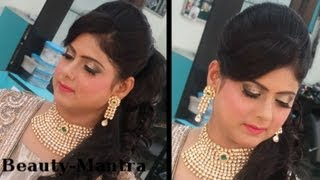 getlinkyoutube.com-Indian Wedding Makeup - Modern Reception Look For Bride