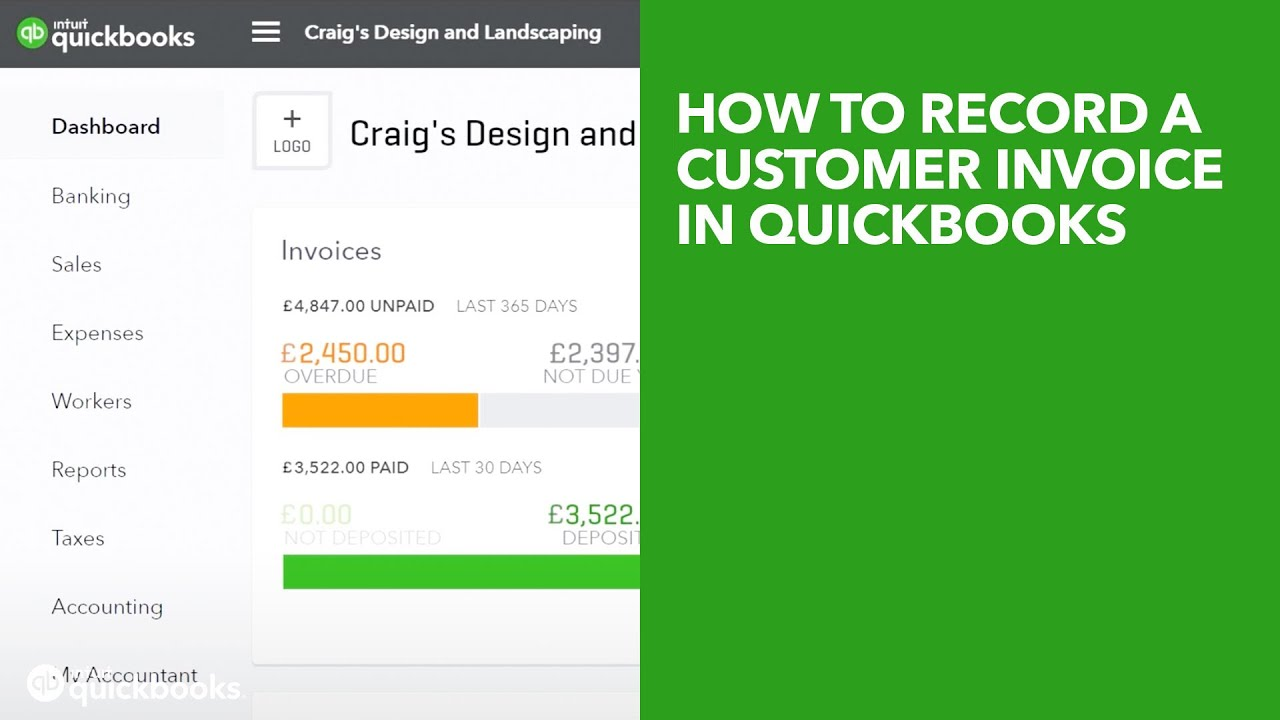 How to Record a Customer Invoice