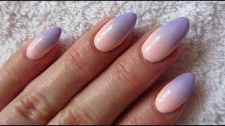 getlinkyoutube.com-Pink and blue pastel ombre - NeoNail - Jak zrobić poziome ombre gąbeczką na hybrydach