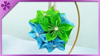 getlinkyoutube.com-DIY Kusudama Christmas ball (ENG Subtitles) - Speed up #292