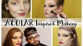 getlinkyoutube.com-A Court of Thorns and Roses Inspired Makeup Looks ‣ Spring Court & Night Court // The Book Belle