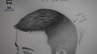 getlinkyoutube.com-طريقة رسم الشعر للولد بالرصاص مع الخطوات للمبتدئين