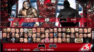 getlinkyoutube.com-WWE2K16 OwnStyles PCSX2 & PS2 (Menu&Roster Preview)