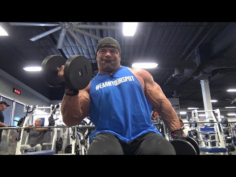 Dusty Hanshaw Arm Training Independence Gym 10 25 2016 part 1