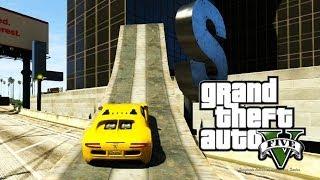 getlinkyoutube.com-GTA ONLINE - Andando de Carro nas Paredes! (GTA 5 Online Gameplay)