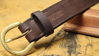hand stitched belt