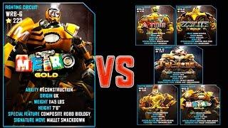 getlinkyoutube.com-Real Steel WRB METRO Gold VS PRO Gold Robots Series of fights NEW ROBOT (Живая Сталь)