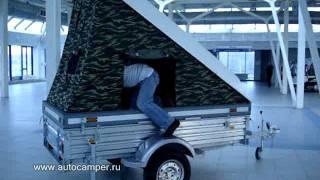 getlinkyoutube.com-Прицеп-палатка на базе МЗСА для охоты, рыбалки, отдыха.