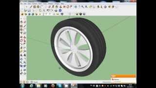 getlinkyoutube.com-how to make car wheels google sketchup toturial