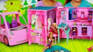 getlinkyoutube.com-RV Vehicle / Kamper Barbie - Barbie i Jej Siostry w Krainie Kucyków - Mattel
