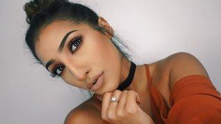 getlinkyoutube.com-EASY Evening Autumn/Fall Makeup Tutorial | Burgundy Smokey Eye | AnchalMUA