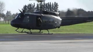 getlinkyoutube.com-RNZAF BELL UH-1H HUEY NZ3805 START - DEPART HAMILTON