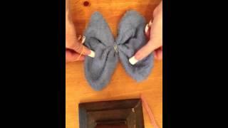 getlinkyoutube.com-How to make a butterfly washcloth