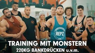 getlinkyoutube.com-TRAINING MIT MONSTERN / 220kg Bankdrücken, Romano Rengel, Cornelia Ritzke und viele mehr