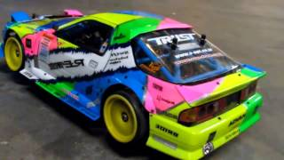 getlinkyoutube.com-Daves RX7 FC RC Drift Even sounds like a rotary!