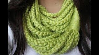 getlinkyoutube.com-تنفيذ شال كروشية تطبيق على الغرزة المنزلقة  Crochet Scarf
