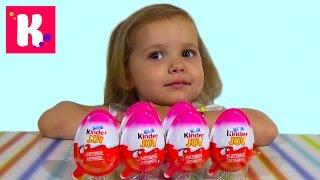 getlinkyoutube.com-Винкс Клуб Киндер Джой игрушки распаковка WINX Kinder Joy toys unboxing