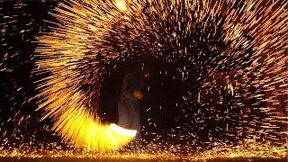 getlinkyoutube.com-Flaming Wire Wool In 4K Slow Mo - The Slow Mo Guys