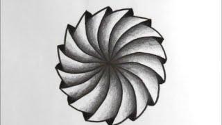 [だれでも描ける!線画アート] ドーナッツみたいな絵の描き方[ゼンタングル]  How to draw zentangle
