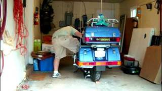 How do you move a GoldWing in a garage