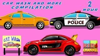 getlinkyoutube.com-Car Wash   Car Service   kids videos   Compilation   Cars Race