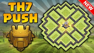 getlinkyoutube.com-INCRÍVEL LAYOUT DE PUSH CV7 com Três [3x] Defesas Aéreas | Anti-Dragon | Clash of clans 2016