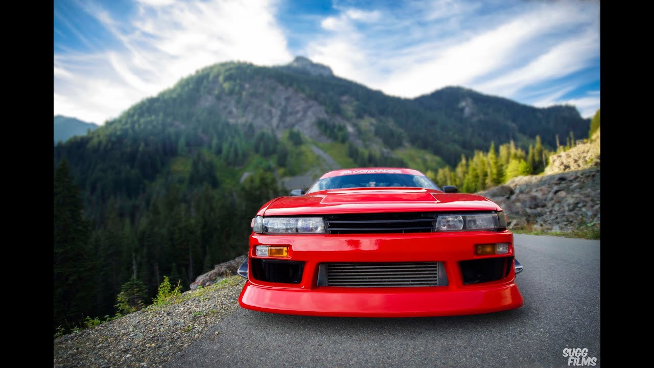 Mountain 240sx drifting