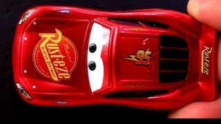 getlinkyoutube.com-Cars2 Metallic Hudson Hornet Piston Cup Lightning McQueen from DK Disney Cars Encyclopedia book