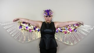 getlinkyoutube.com-Lamé Wings ♥ DIY