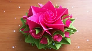 getlinkyoutube.com-DIY Handmade Crafts. How To Make Amazing Paper Rose. Origami Flowers For Cards