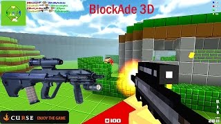 BlockAde 3D Part 2 เกม Minecraft แนว FPS มาลอง AUG A3