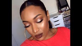getlinkyoutube.com-Fall make up/Autumn Makeup tutorial (limecrime salem)