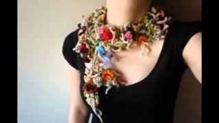 getlinkyoutube.com-Красивые вязаные украшения. Модная вязаная бижутерия