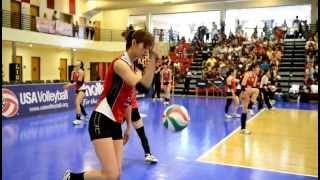 getlinkyoutube.com-日本代表女子バレーボールチーム 試合前練習 USA Volleyball Cup 2013