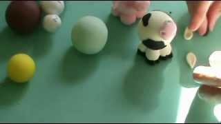 getlinkyoutube.com-DIY♥Elefante , vaca con Porcelana fría 2