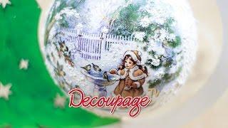 getlinkyoutube.com-Decoupage - bombka choinkowa na stojaku - instrukcja krok po kroku