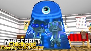getlinkyoutube.com-Minecraft Childhood : BABY LITTLE KELLY & LITTLE CARLY EATEN BY A JELLY MONSTER!